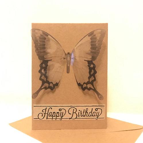 Striking butterfly birthday card