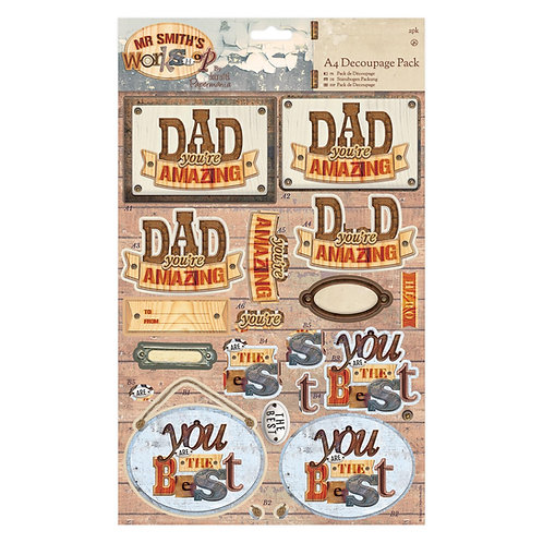 A4 Decoupage Pack - Mr Smith's Workshop