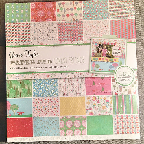 Forest Friends - Grace Taylor 100 sheet paper pad