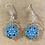 Thumbnail: Blue Snowflake Earrings