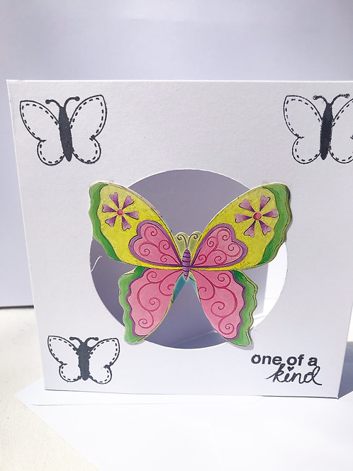 One Of A Kind - Butterfly Card