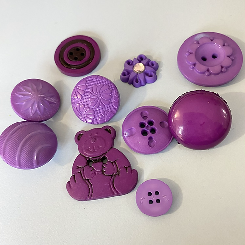 Assorted Dark Purple Buttons