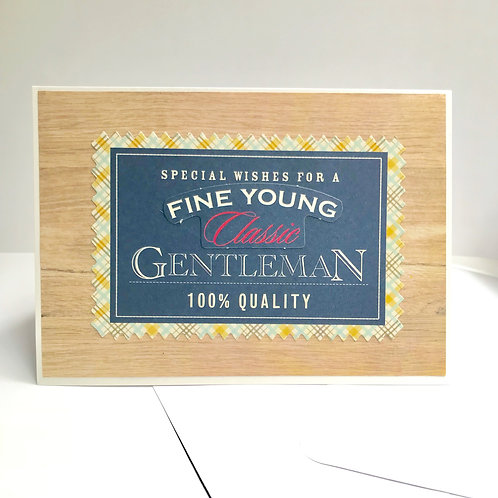 Fine Young Gentleman Wood Design Card