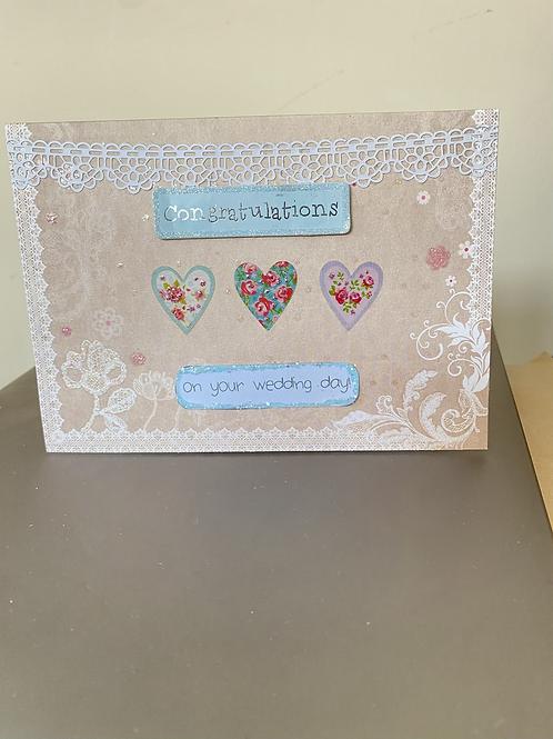Floral Heart Congratulations Card