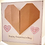 Thumbnail: Pink Kraft Origami Heart Valentine's Card