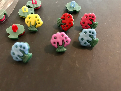 Small Tree Shaped Buttons