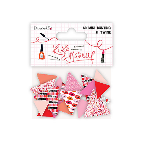 Dovecraft Kiss & Makeup Mini Bunting
