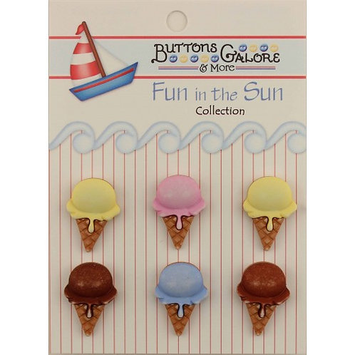 Ice Cream Cones Buttons