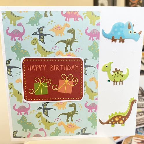 Happy Birthday Dino Card