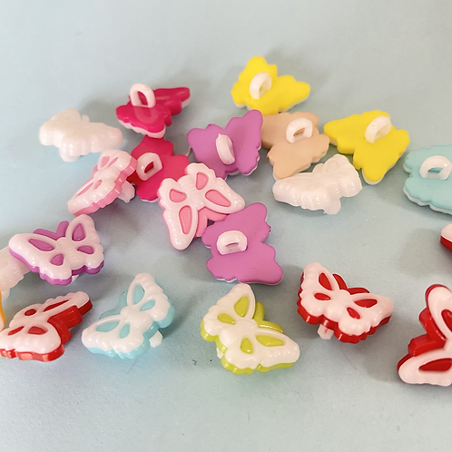 Small Plastic Butterfly Buttons