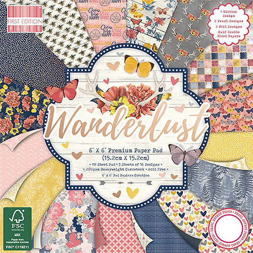 First Edition - Wanderlust 6x6 Paper Pad