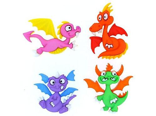 Dragon Tale - cute fantasy buttons