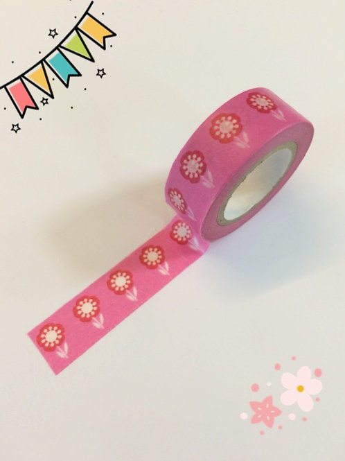 Dovecraft Washi Tape - Pink Flowers