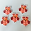 Thumbnail: Red Brown Owl Buttons (Pack of 5)