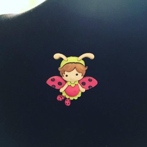Ladybird Fairy Pin Badge