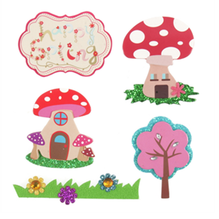 Happy Spring - Toadstool Embellishments