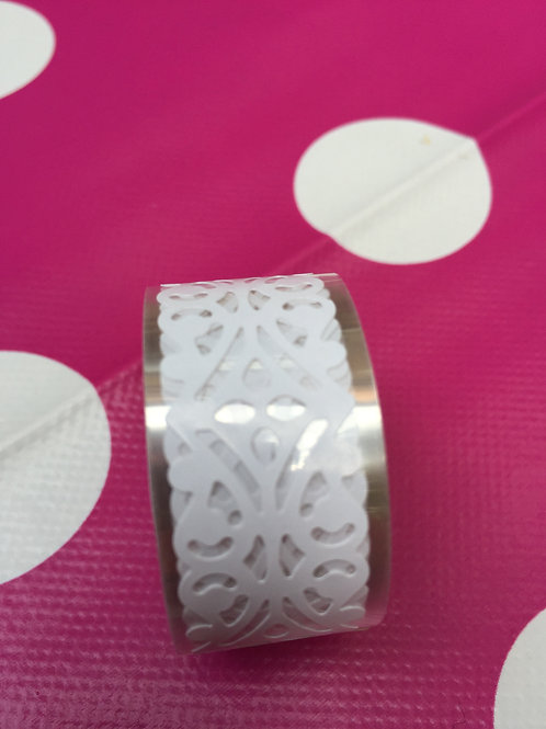 White Lace Effect Tape