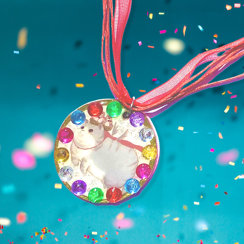 Colourful Cat Necklace