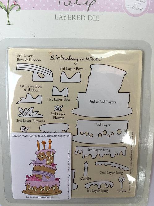 Birthday Cake Layered Cutting Die