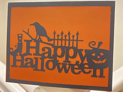 Happy Halloween Spooky Card