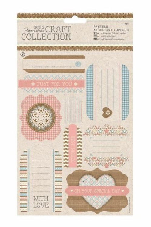 Docrafts Papermania Craft Collection Pastels A5 Die Cut Toppers