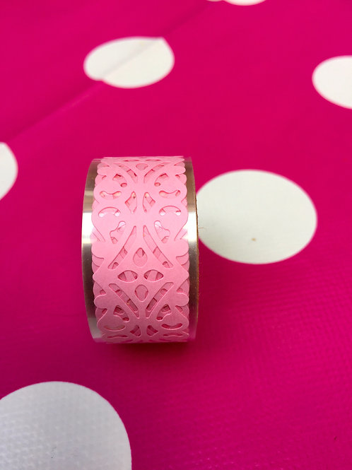 Pale Pink Lace Effect Tape