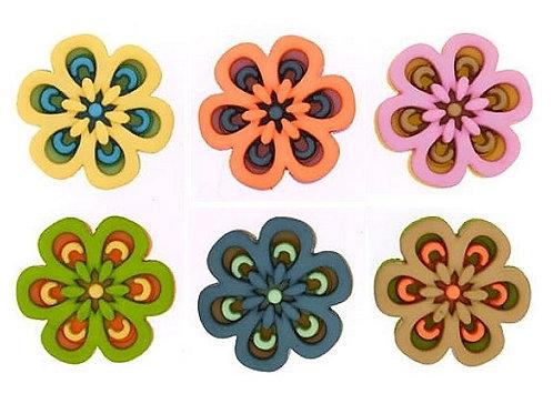 Morning Mist - Flower buttons