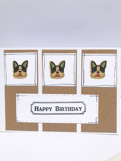 French Bulldog - Birthday Card