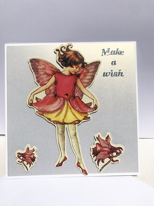 Light Fairy Make A Wish Card