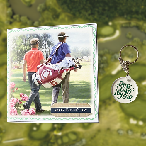 Father's Day Golf Card and Keyring Bundle - Special Offer