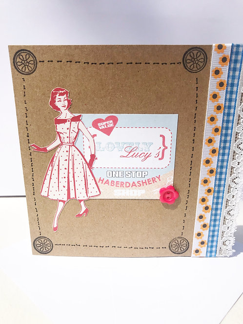 Vintage-inspired Haberdashery Card