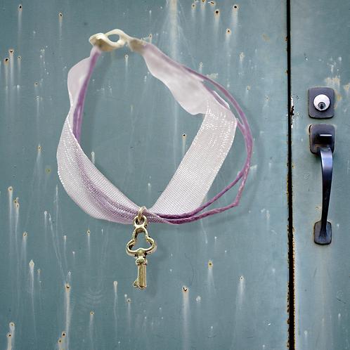 Organza Ribbon Key Bracelet