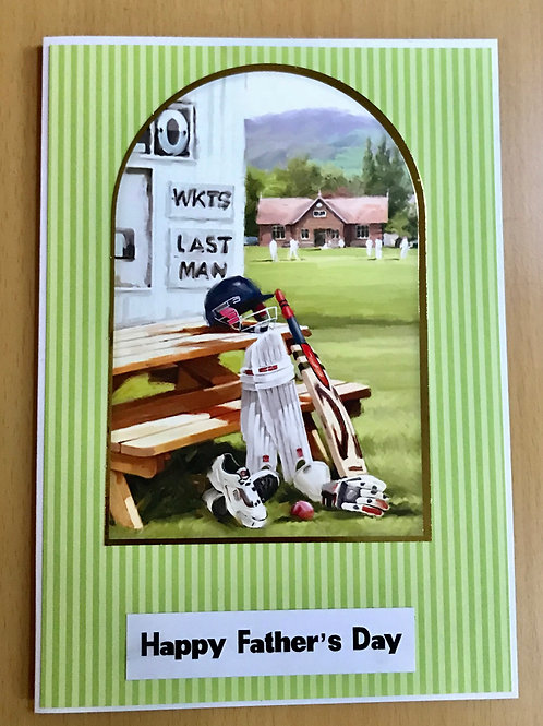 Cricket Kit Father's Day Card