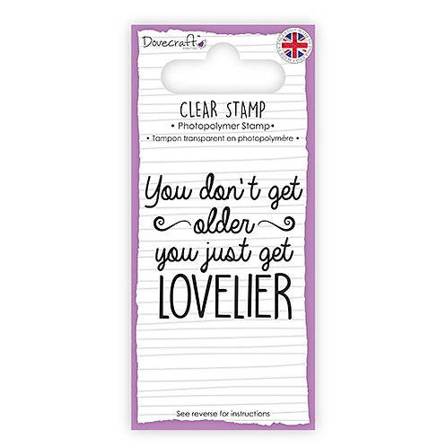 Lovelier clear sentiment stamp