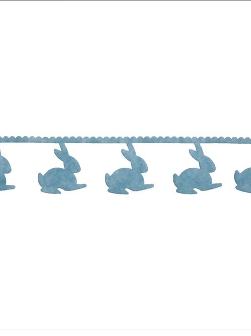 Blue Easter Bunny Felt Garland/Trim