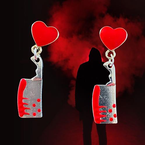 Slasher - Bloody Cleaver Earrings - Horror Lover