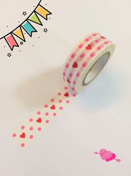 Dovecraft Washi Tape - Hearts & Spots