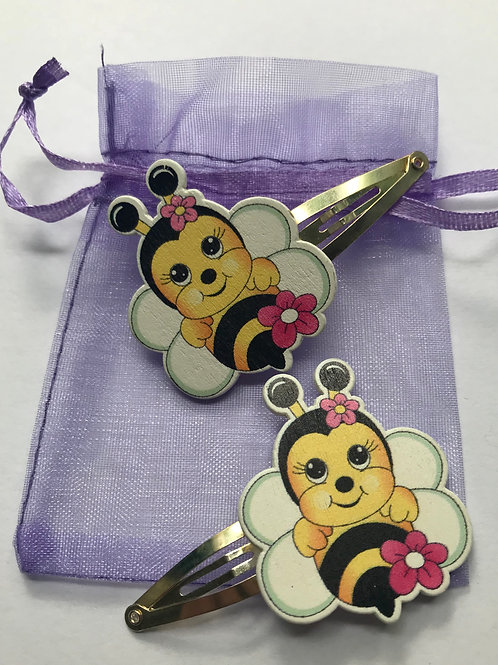 Handmade Bumble Bee Hair clips