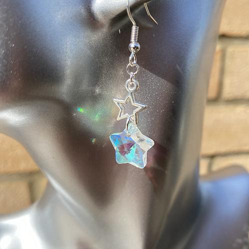 Diamond Light Star Earrings