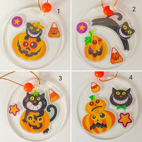 Black Cat & Pumpkin Halloween Decorations