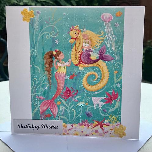 Mermaid Friends Birthday Card