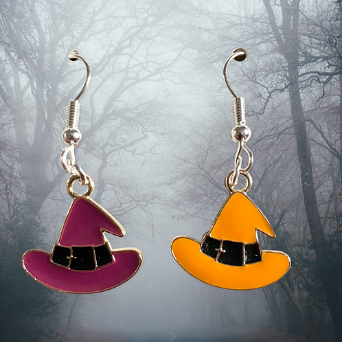 Mismatch Witches Hat Earrings