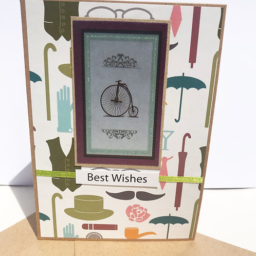 Best Wishes Modern Vintage card