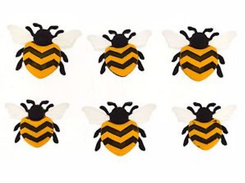 Dress It Up - Bee Happy buttons