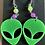 Thumbnail: Believe - Green Alien Earrings