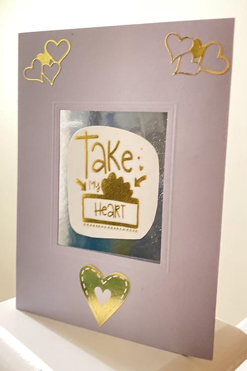 Take My Heart Card
