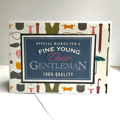 Fine Young Gentleman Accessories Design Card