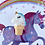 Thumbnail: Unicorn Ice Cream Cone Pin Badge - Blue