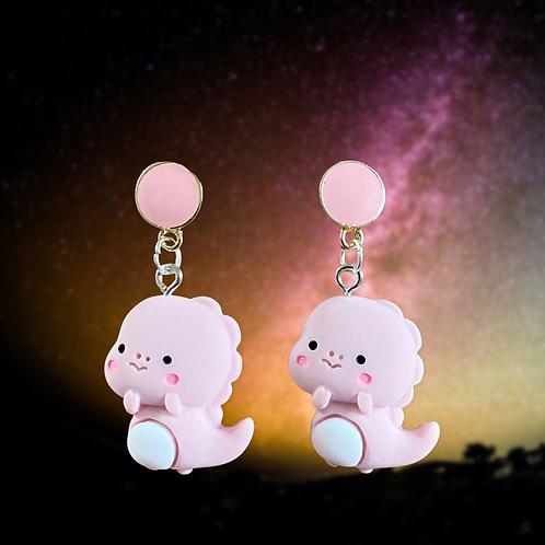 Baby Pink Dragon Earrings