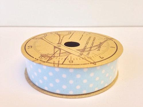 Blue Polka Dot self adhesive ribbon